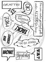 Omonterad stämpel - ark med 11 stämplar - Vildastamps