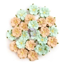 Prima Zella Teal Flowers - Bliss Delight