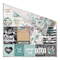 Prima Zella Teal Double-Sided Cardstock 12X12 - Live Loudly