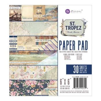 Prima Double-Sided Paper Pad 6X6 30/Pkg - St. Tropez -
