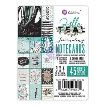 Prima Journaling Cards 3X4 45/Pkg - Zella Teal -
