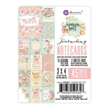Prima Journaling Cards 3X4 45/Pkg - Heaven Sent 2 -