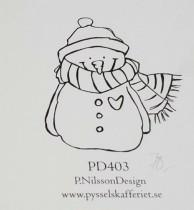 Omonterad gummistämpel PD403