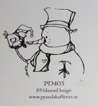 Omonterad gummistämpel PD405