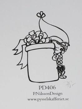 Omonterad gummistämpel PD406 -