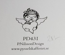Omonterad gummistämpel PD431