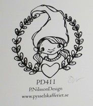 Omonterad gummistämpel PD411