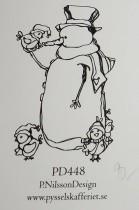 Omonterad gummistämpel PD448