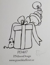 Omonterad gummistämpel PD407
