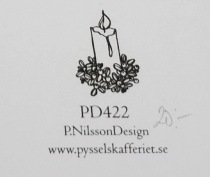 Omonterad gummistämpel PD422