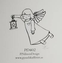 Omonterad gummistämpel PD402