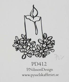 Omonterad gummistämpel PD412 -