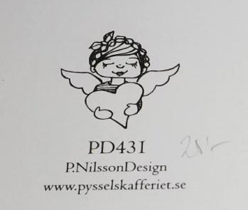 Omonterad gummistämpel PD431 -