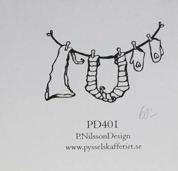 Omonterad gummistämpel PD401 -