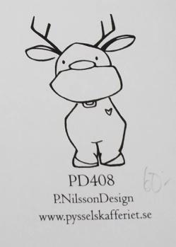 Omonterad gummistämpel PD408 -