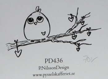 Omonterad gummistämpel PD436 -