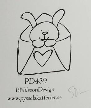 Omonterad gummistämpel PD439 -