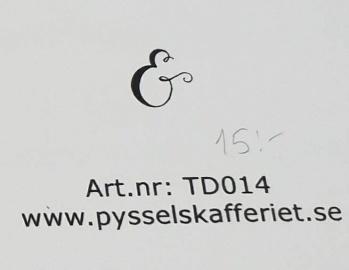 Omonterad gummistämpel TD014 -