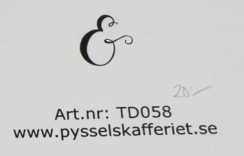 Omonterad gummistämpel TD0582 -