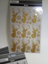 Ark med glittriga stickers