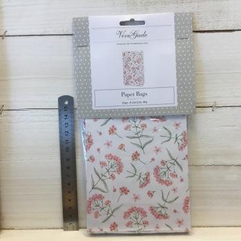 ViviGade - Paperbags Rosa blommor -