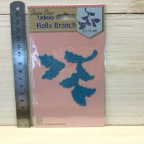 Nellie Snellen - Shape Dies - SDB058 Holly Branch