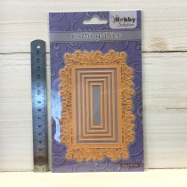 Nellie Snellen - Cutting Dies - HSFD028 Rectangle swirl frame