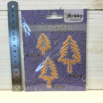 Nellie Snellen - Cutting Dies - HSFD026 3 Pine trees -