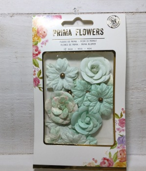 Prima Santa Baby Mulberry Paper flowers -