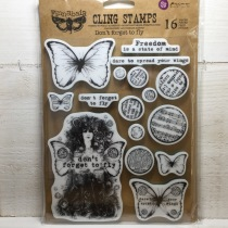 Prima Finnabair - Cling Stamps - Don't forget to fly