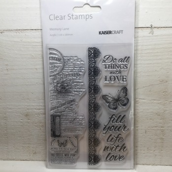 Kaisercraft - Clear Stamps - Memory Lane -