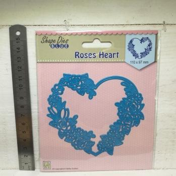 Nellie Snellen - Shape Dies - SDB006 Roses Heart -