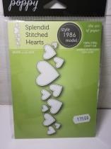 Poppy dies splendid stitched hearts