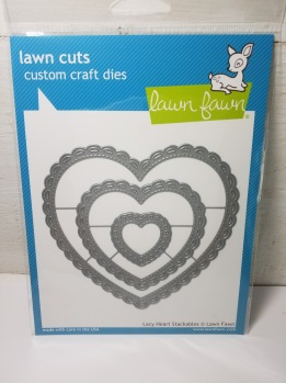 Lawn fawn lacy Heart -