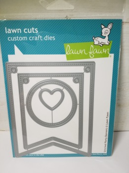 Lawn fawn stitched party bananer -