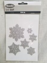 Die cut snöflingor