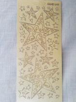 Stickers 10x23 snöflingor guld