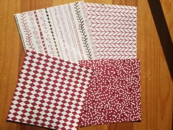 Origamipapper Förp med 40 ark - Origamipapper röda nyanser 15x15 cm 40 ark