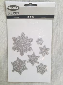 Die cut snöflingor -