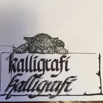 Kurs Kalligrafi 18/11 kl 11-16 -
