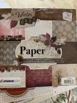 Block med härliga papper, 15x15 cm
