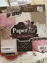 Block med härliga papper  15x15 cm