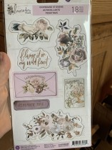Prima Lavender frost chipboard stickers