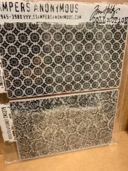 Tim Holtz Cling Stamps 7x8,5 - Rosette & Floret -