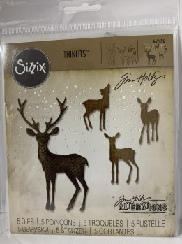 Tim Holtz Sizzix Thinlits Dies 5/Pkg - Winter Wonderland -