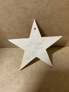 Trä-stjärna nr 10 -
