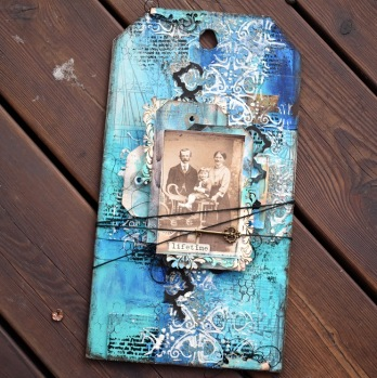 Mixed media kurs lördag 23/3 kl 14-ca 18.30 - Tag