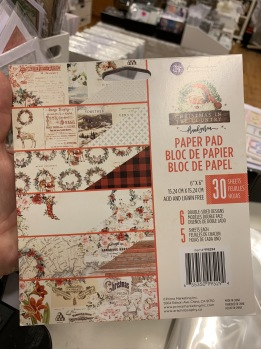 Block 6x6 Christmas in the country -