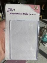 Mixed media platta