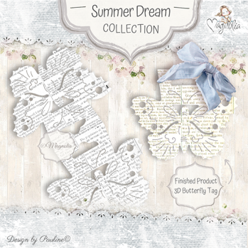 So Wrapped DooHickey Butterfly Tag Cutting Die